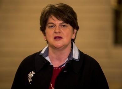 DUP leader Arlene Foster in Stormont on Monday.