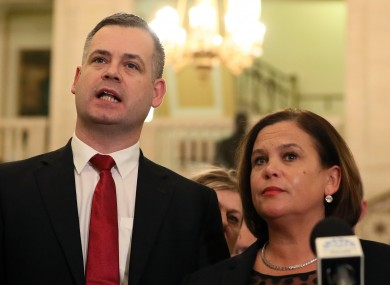 Sinn Fein's Pearse Doherty says the party is considering to taking legal action against RTE.
