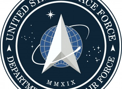 The US Space Force logo.