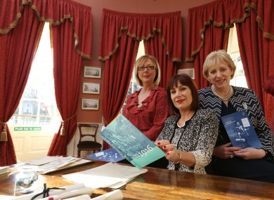 Fine Gael's Regina Doherty, Josepha Madigan and Heather Humphreys pictured at the launch of the Centenary Programme to Commemorate Voting Rights for Women in 2018.