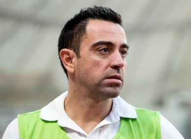 Xavi (file pic).