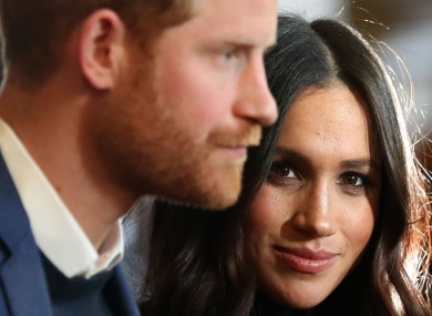 File photo of Harry and Meghan.