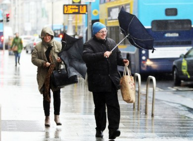It's going to be wet and windy this weekend.