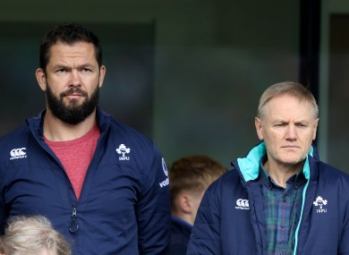 Andy Farrell and Joe Schmidt, back in 2016.
