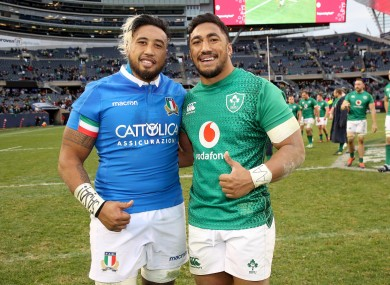 Bundee Aki and Jimmy Tuivatti hope the game gets the thumbs up.