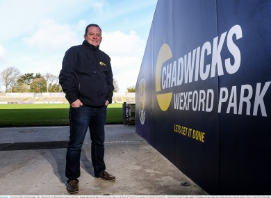 Davy Fitzgerald at Chadwicks Wexford Park yesterday.