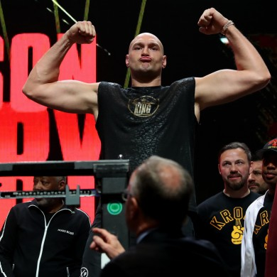Tyson Fury tipped the scales at 273 pounds, the second heaviest he's ever been on the eve of a fight.