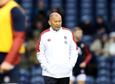 England head coach Eddie Jones pictured before yesterday's Six Nations win against Scotland.