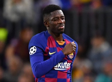 Ousmane Dembele is out for the remainder of the season.