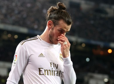 Gareth Bale appears dejected during Real Madrid's draw