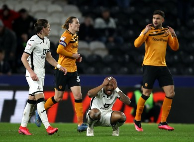 Andre Ayew rues a missed chance.