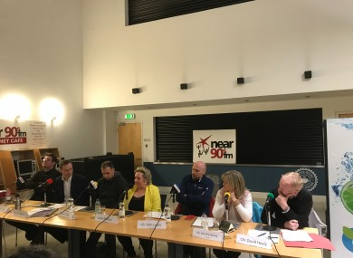 Candidates in Dublin Bay North during last night's debate in Coolock.