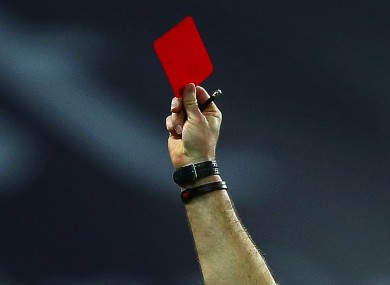 The red card shown to Lee Devitt has been rescinded.
