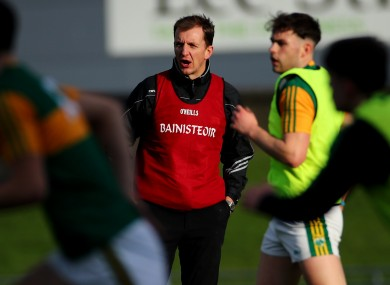 John Sugrue watched his Kerry team win tongiht in Rathkeale.jk