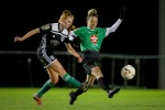 Peamount United's Louise Corrigan with Nadine Seward of Cork City (file pic).
