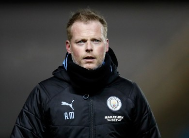 Manchester City interim manager Alan Mahon.