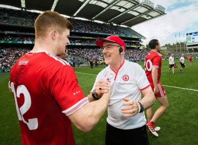 Mickey Harte with Cathal NcShane.