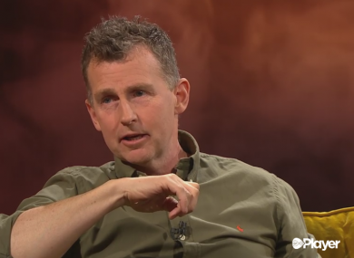Nigel Owens appearing on Virgin Media's show, The Line-Out.