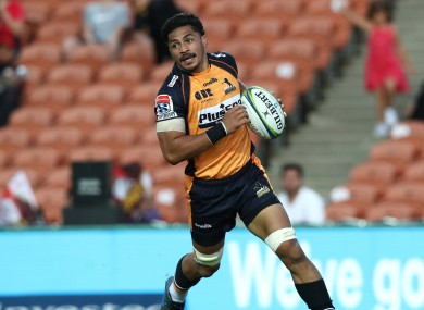 Pete Samu scores for the Brumbies