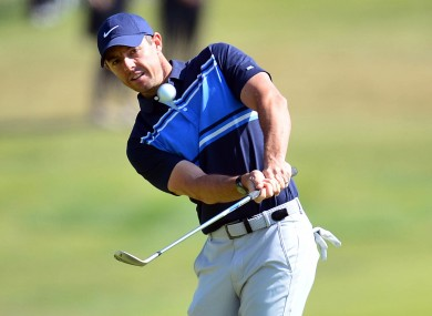 Rory McIlroy playing the final round of the Genesis Invitational on Sunday.
