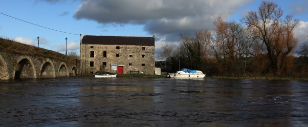 High water levels on the River Barrow in Kilkenny.