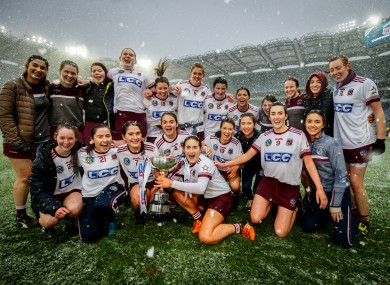 Slaughtneil were crowned champions in the snow last year.