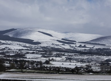 File photo - Snow in the Wicklow Mountains