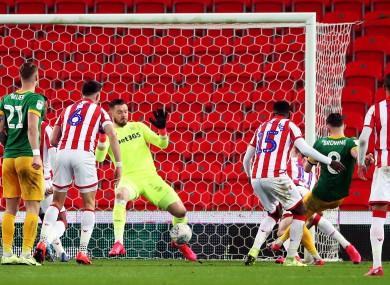 Browne: third goal of the season.