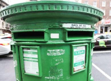 A post box in Dublin city.