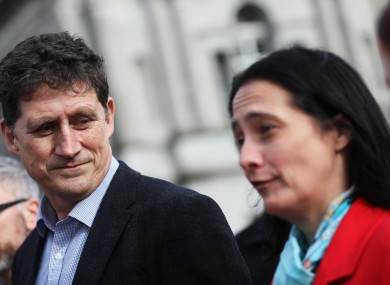 Green Party leader Eamon Ryan with Catherine Martin.