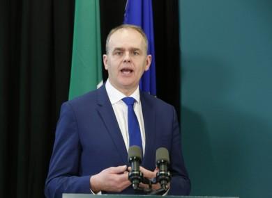 Education minister Joe McHugh.
