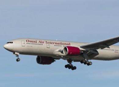 An Omni Air International plane.