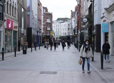 Grafton Street in Dublin.