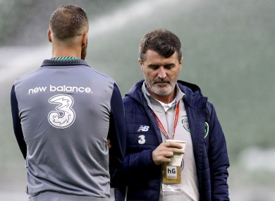 David Meyler pictured with Roy Keane.