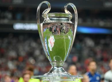Champions League final trophy.