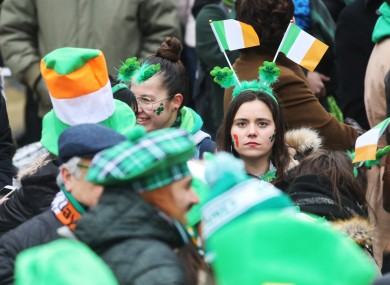 File photo. St Patrick's Day in Dublin in 2018.