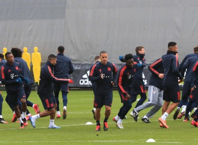 A Bayern Munich training session last month.