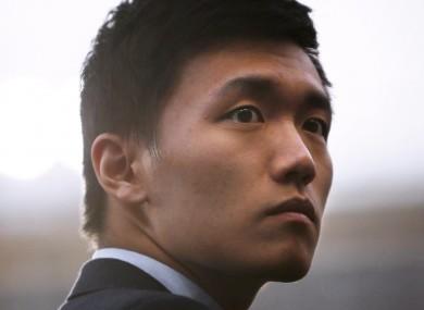 Inter president Steven Zhang (file pic).