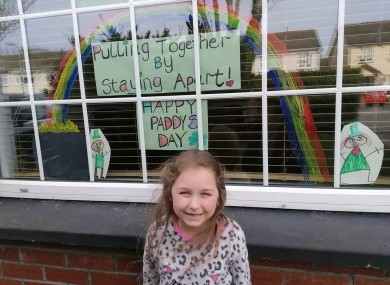 Madison Gardner with her St Patrick's Day artwork.