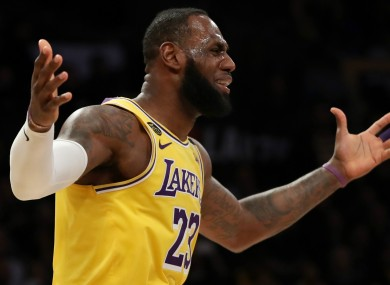 Los Angeles Lakers superstar LeBron James
