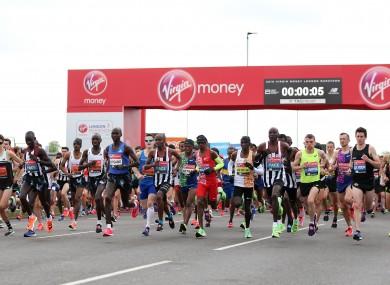 The start of last year's London marathon.