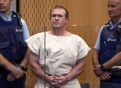 File photo, Brenton Tarrant, the man charged in relation to the Christchurch mosque shootings. (Mark Mitchell/Pool via AP, File)