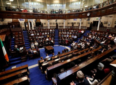 The Dáil will debate the Covid-19 emergency legislation in Leinster House today.