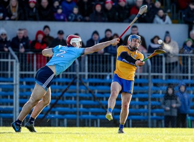 Dublin's Paddy Smyth and Shane O'Donnell of Clare