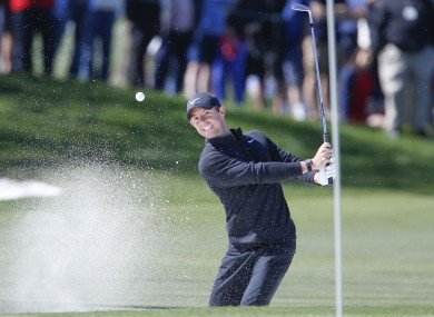 McIlroy shoots out of the bunker at Bay Hill.