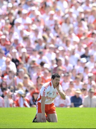 PJ Quinn during the Ulster SFC in 2009.