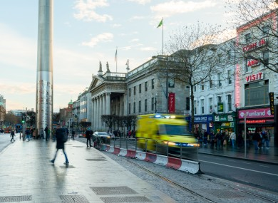 File photo of O'Connell Street, Dublin.