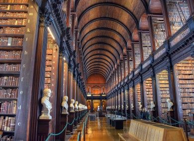 The Old Library, a part of the Book of Kells exhibition.