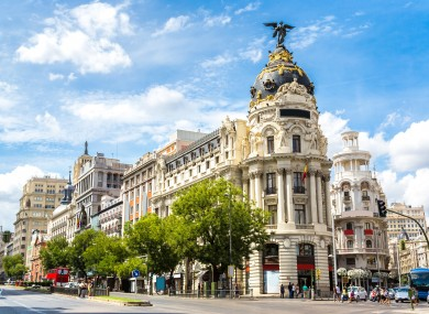 Capital Madrid where a large portion of the outbreak has occurred.