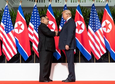 North Korea leader Kim Jong Un and US President Donald Trump